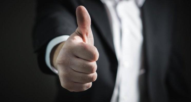 Thumbs up - gratitude