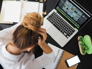 Stressed employee - performance reviews