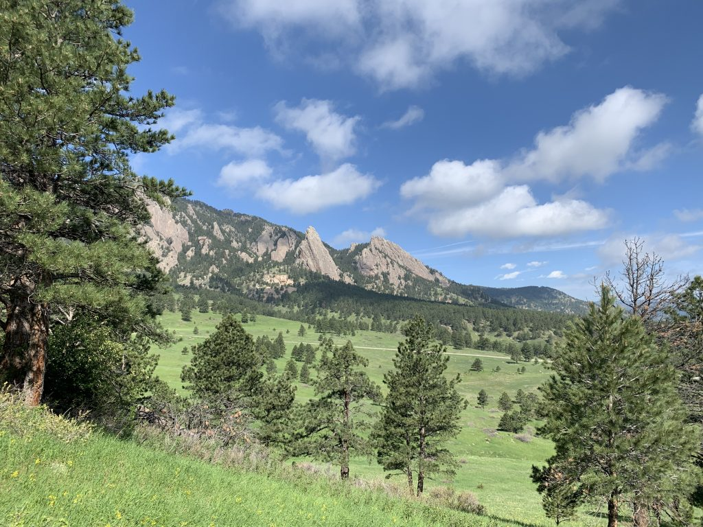 Flatirons in Boulder, CO